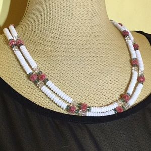 Pretty Vintage Double-Strand Beaded Necklace